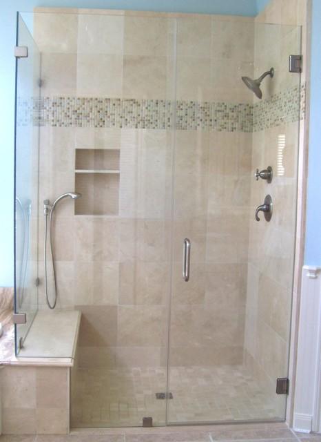 Frameless Shower Enclosure Traditional Bathroom Houston By