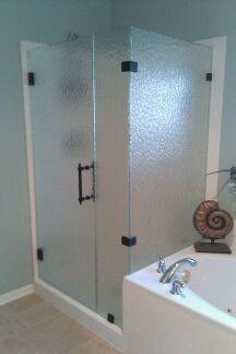 Frameless Shower With Rain Glass Modern Bathroom