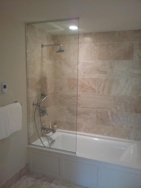 Frameless Sliding Splash Guards Bathroom Minneapolis By