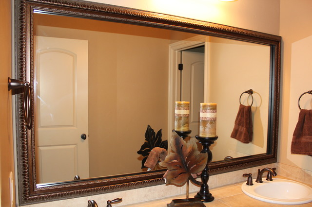 Frames for Existing Mirrors traditional-bathroom