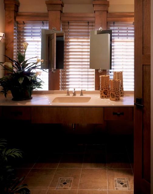 Frank Lloyd Wright Inspired Contemporary Bathroom