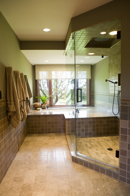 Frank Lloyd Wright Inspired Home Contemporary Bathroom