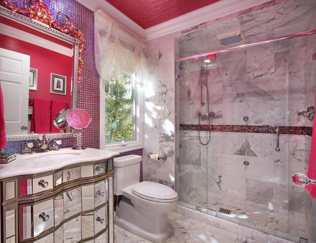Frank Pitman Designer Dance Studio Eclectic Bathroom Orange County By Jeri Koegel