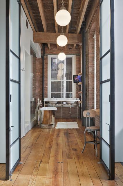 Jane Kim Design industrial-bathroom