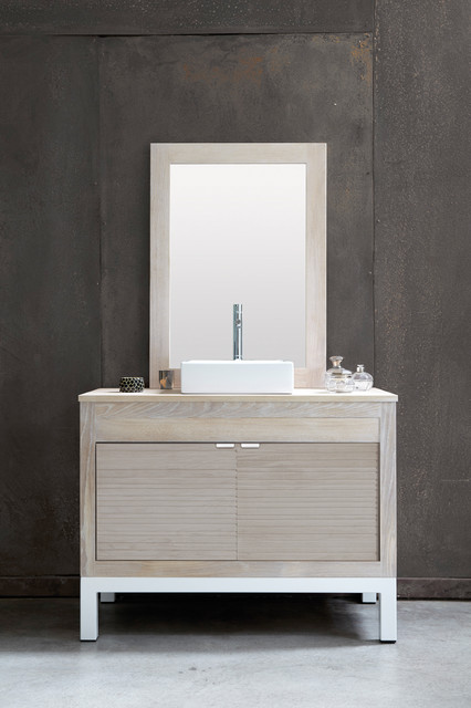 FREE Sold Oak Vanity in Chene Ceruse Blanc (Whitewashed Oak)  Contemporary  -> Cérusé Blanc