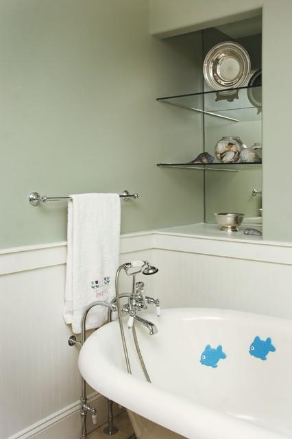 free standing tub craftsman-bathroom