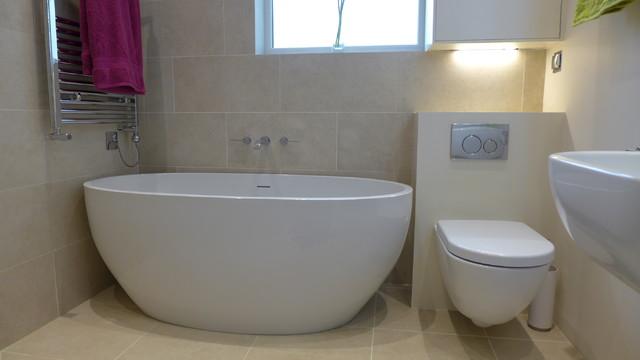 Freestanding Bath In Wet Room Contemporary Bathroom