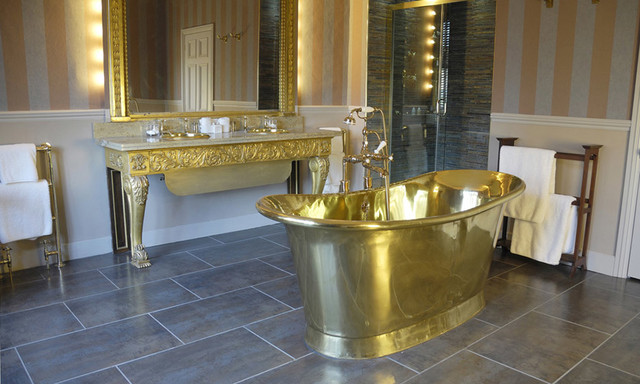Freestanding Brass Bathtub traditional bathroom. Freestanding Brass Bathtub