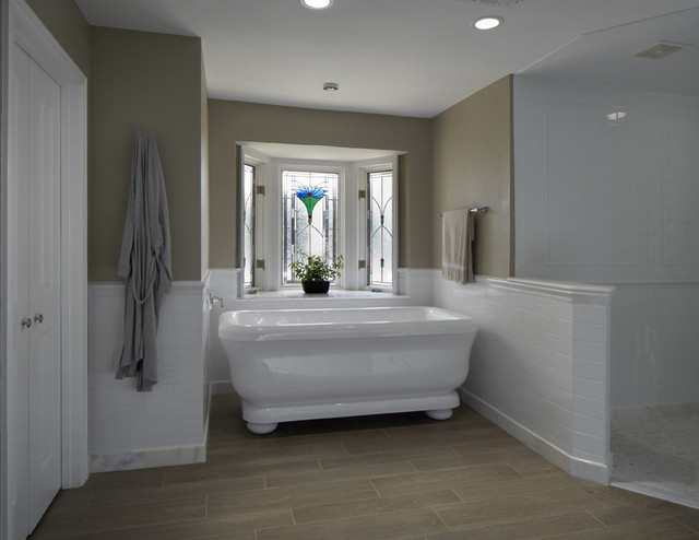 Freestanding tub bathroom remodel Colleyville traditional-bathroom
