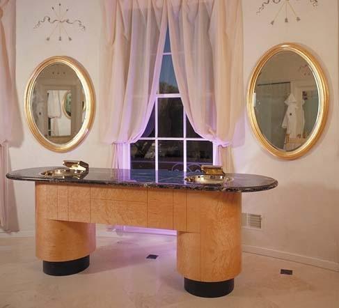 Freestanding vanity eclectic-bathroom
