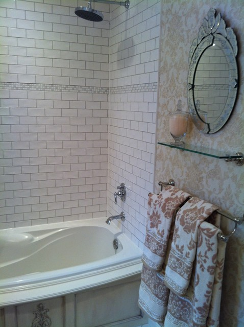 French Boutique Hotel Inspired Bathroom Traditional Bathroom