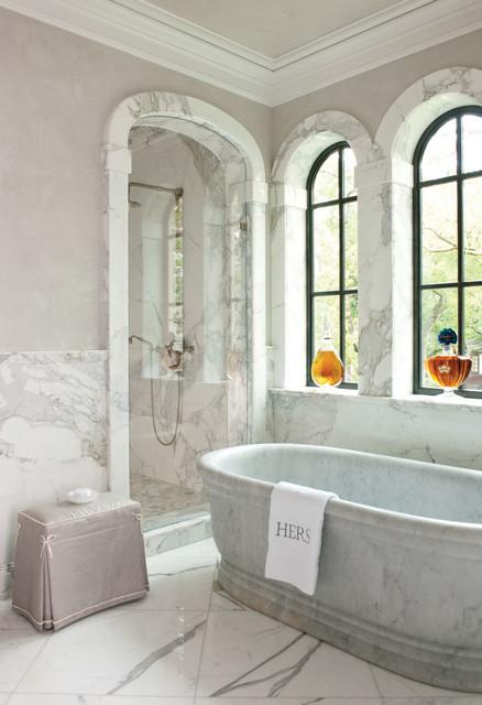 French Chateau Mediterranean Bathroom Dallas By