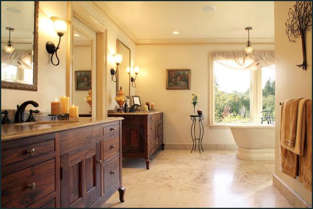 French Chateau Retreat Traditional Bathroom Portland