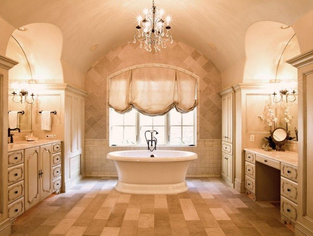 French Country Estate Traditional Bathroom