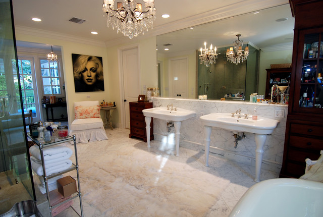 French Country Estate New Construction traditional-bathroom