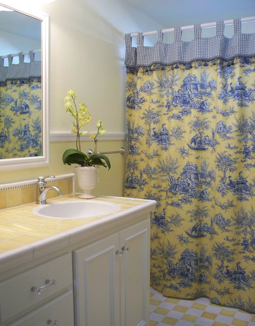 French Country Guest Bathroom Farmhouse Bathroom San Francisco By Plc Interiors