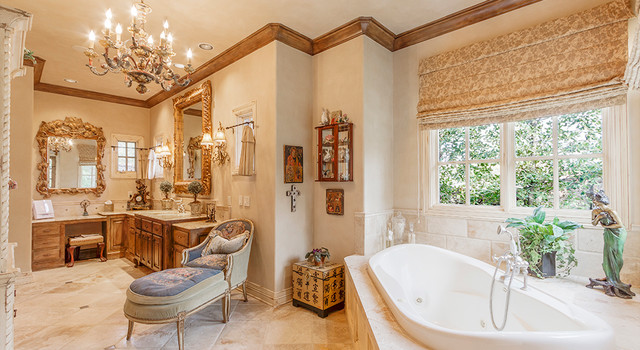 French country master bath traditional bathroom for Country master bathroom ideas