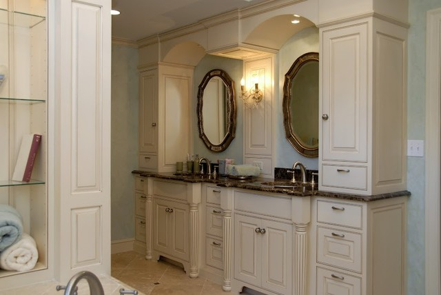French Country Master Bathroom Suite Traditional