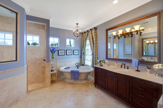 French Country Master Bathroom Mediterranean