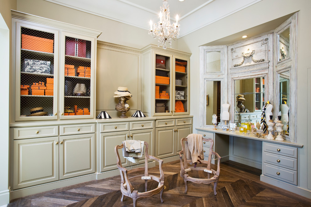 French Flair Master Dressing Room - Traditional - Bathroom ...
