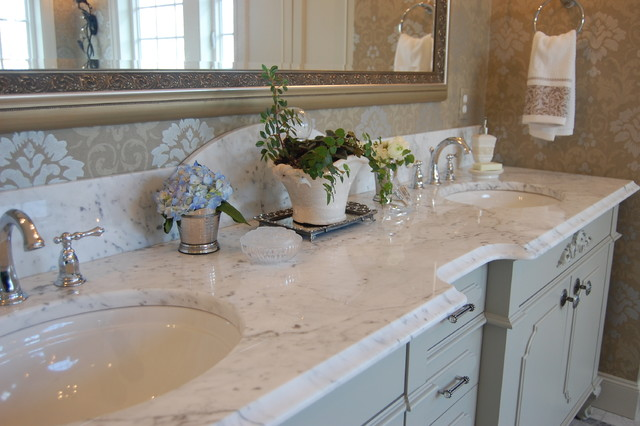 French Inspired Traditional Bathroom