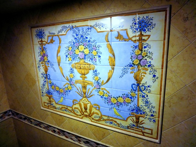 """""""French Ornate Baroque Rococo"""" steam shower tile mural ..."""