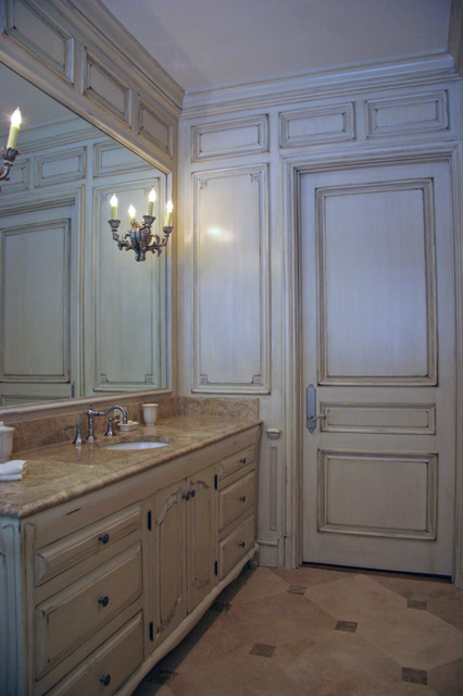 French paneling traditional bathroom