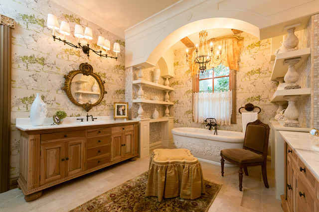 French provincial master bathroom mediterranean for French bathroom decor
