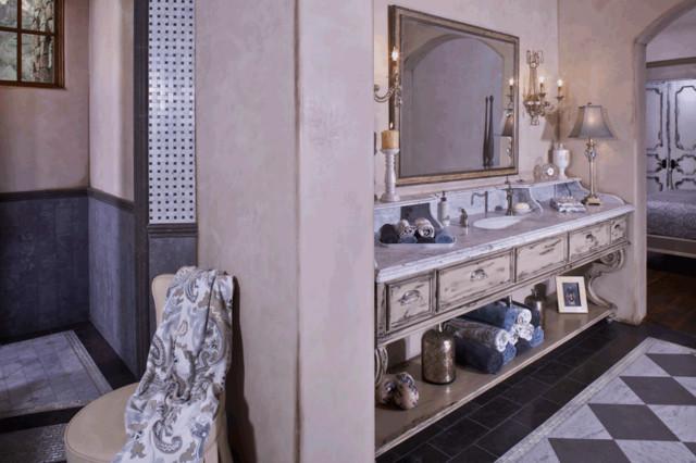 French Provincial Master Bathroom traditional-bathroom