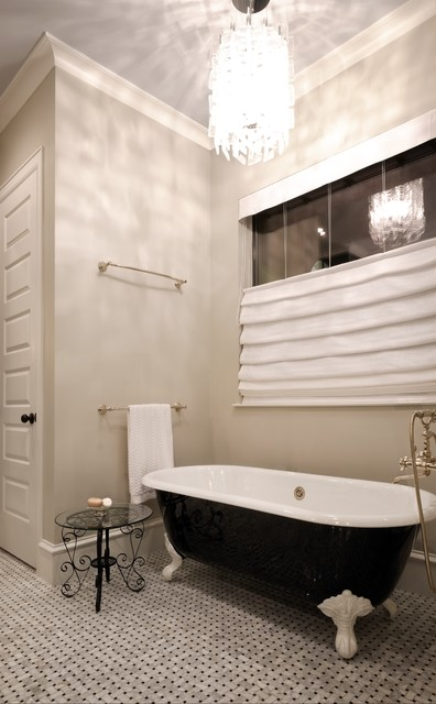 French Quarter meets West University traditional-bathroom