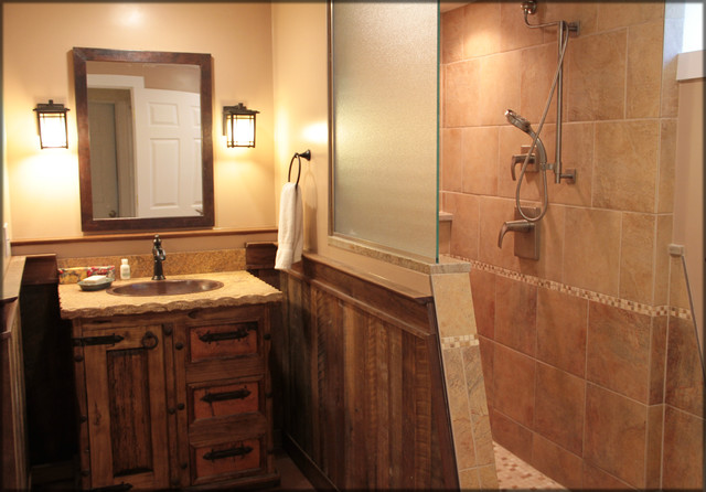 Full Basement - Rustic - Bathroom - other metro - by ...