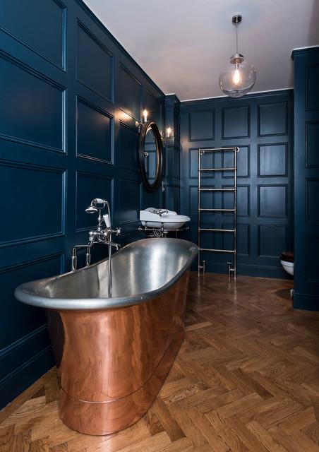Full refurbishment on trinity road london classique - Salle de bain classique chic ...