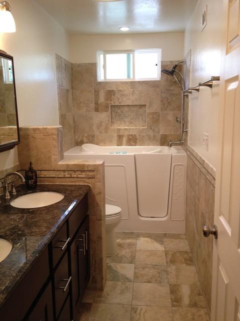 Full view contemporary bathroom san diego by b3 - Kitchen and bath design san diego ...