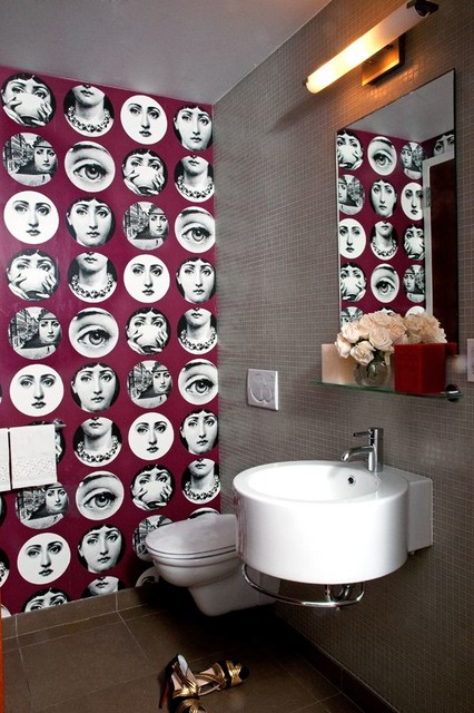Fun And Funky Powder Room Contemporary Bathroom New