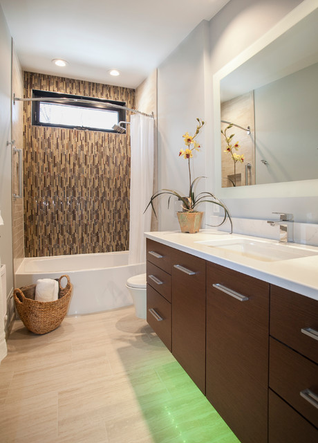 Fun LED Under Cabinet Lighting - Contemporary - Bathroom - bridgeport - by Kitchen & Bath Design ...