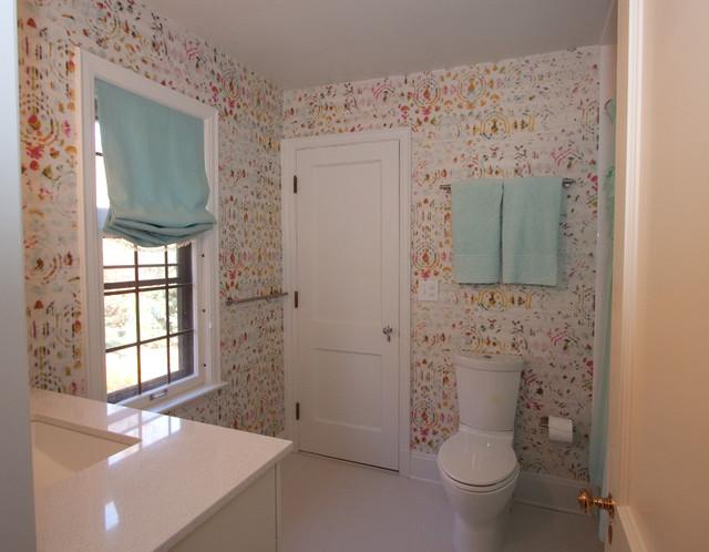 Funky girls bathroom modern bathroom cleveland by for Funky bathroom wallpaper ideas