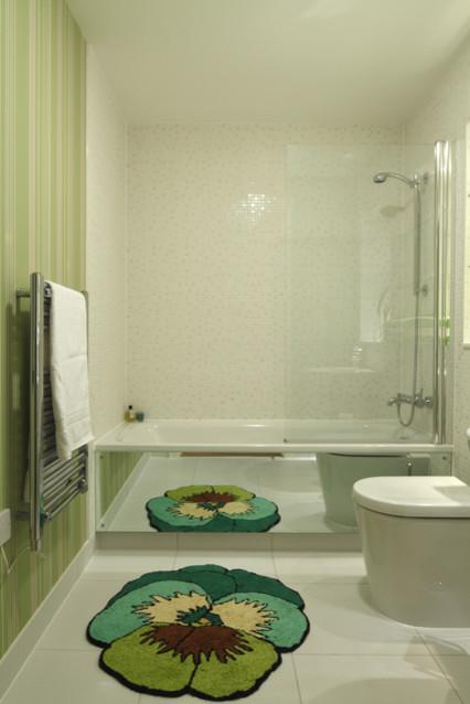 Funky Green Bathroom Modern Bathroom London By Adrienne Chinn Design