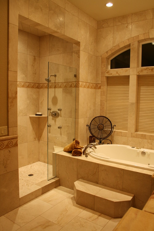 Tub shower wall tile decision for Houzz com bathroom tile