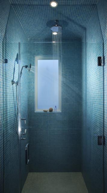 Fusion Farmhouse contemporary-bathroom