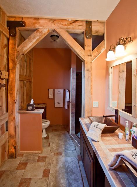 Gambrel Home In Colorado Rustic Bathroom Other Metro
