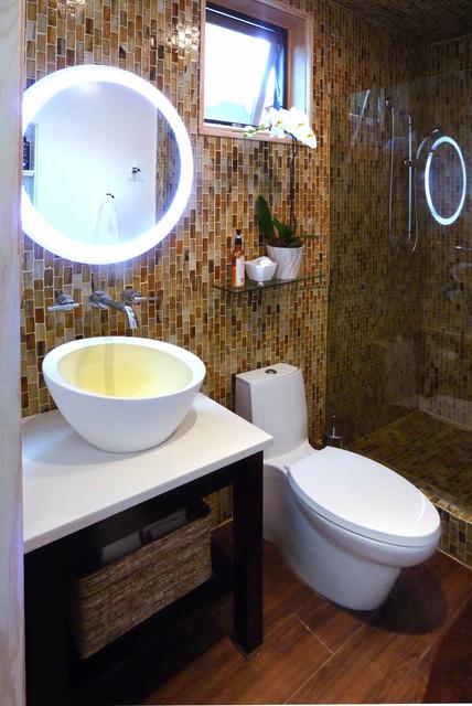 Garage conversion for Landscape architects bath