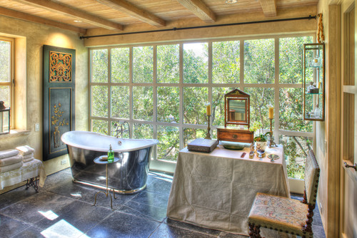Garden House eclectic bathroom