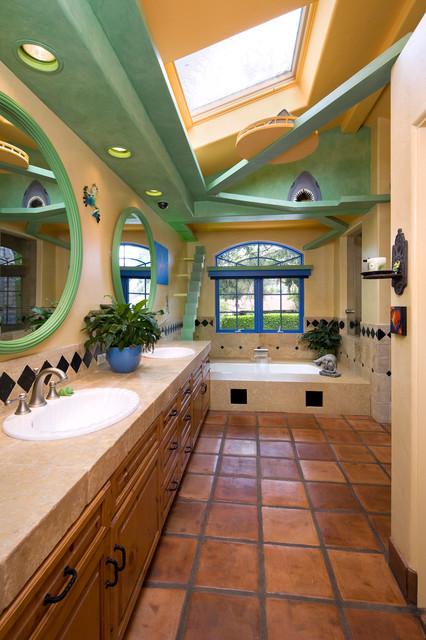 Garden Oasis Master Bath eclectic-bathroom