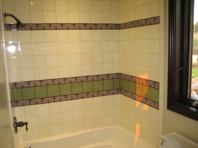 Garret Home Remodel with Spanish Ceramic Tile traditional-bathroom