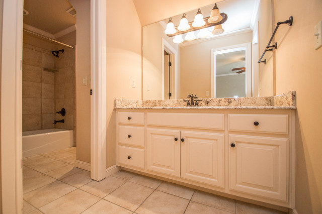 Popular Wooded South Tulsa House Transitionalbathroom
