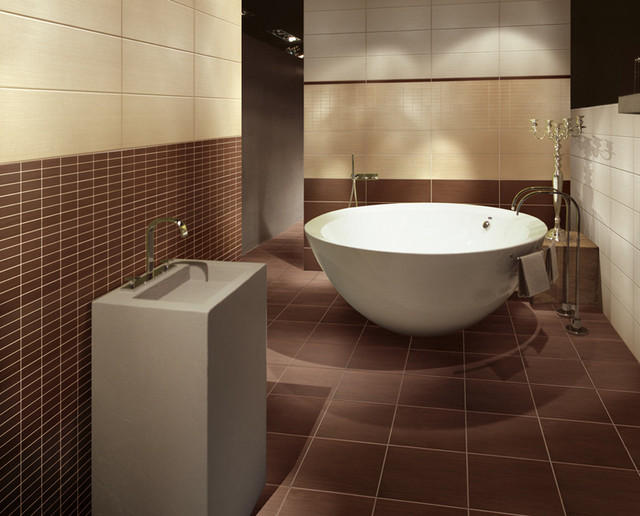 Gazzini seven sins chocolate bathroom modern bathroom for Faience salle de bain chocolat beige