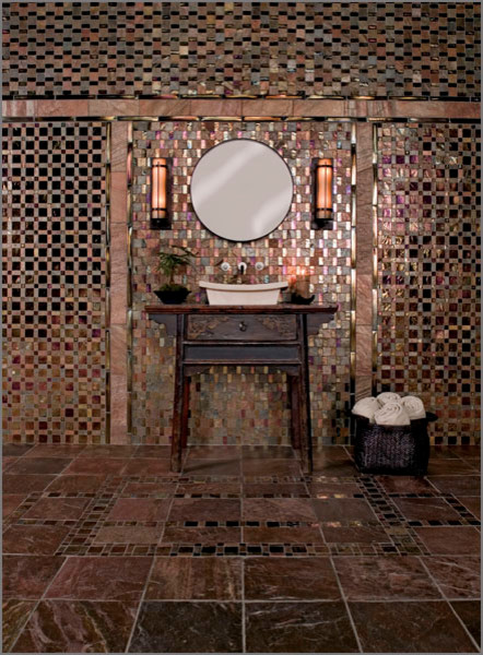 copper tiles bathroom geologie incense and copper quartz slate eclectic 12517