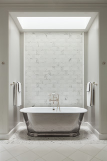 house transitional bathroom dc metro by overmyer architects