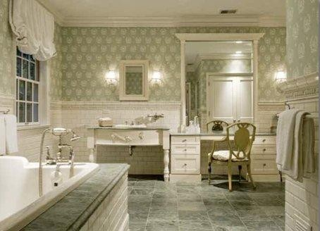 Georgian Historic Residence Bathroom Chicago By