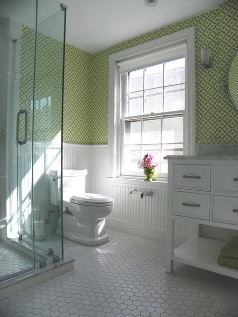 Girl S Bathoom Vintage Style Traditional Bathroom